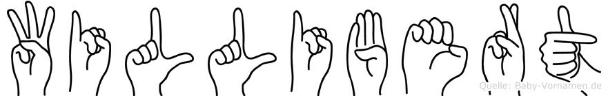 Willibert im Fingeralphabet der Deutschen Gebärdensprache