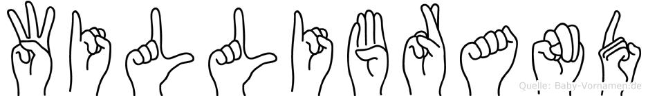 Willibrand im Fingeralphabet der Deutschen Gebärdensprache