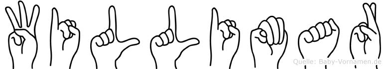 Willimar im Fingeralphabet der Deutschen Gebärdensprache