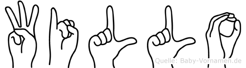 Willo im Fingeralphabet der Deutschen Gebärdensprache