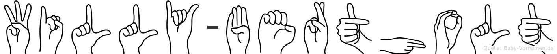 Willy-Bertholt im Fingeralphabet der Deutschen Gebärdensprache
