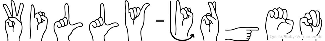 Willy-Jürgen im Fingeralphabet der Deutschen Gebärdensprache