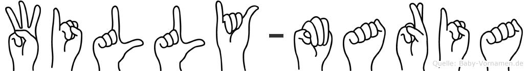 Willy-Maria im Fingeralphabet der Deutschen Gebärdensprache