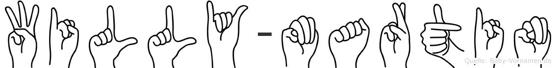 Willy-Martin im Fingeralphabet der Deutschen Gebärdensprache