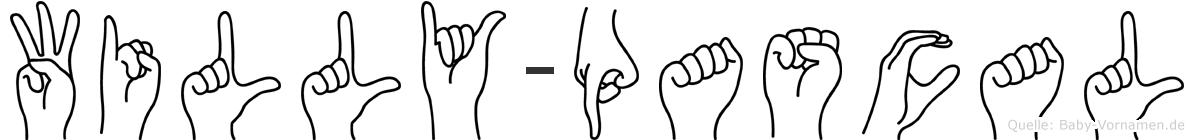 Willy-Pascal im Fingeralphabet der Deutschen Gebärdensprache