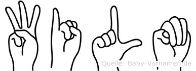 Wilm in Fingersprache für Gehörlose