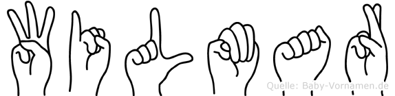 Wilmar im Fingeralphabet der Deutschen Gebärdensprache