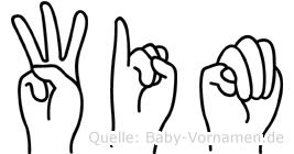 Wim im Fingeralphabet der Deutschen Gebärdensprache