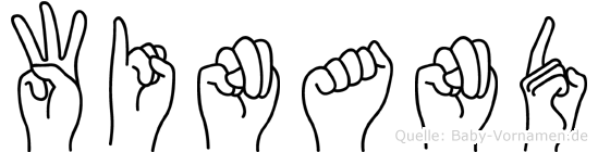 Winand in Fingersprache für Gehörlose