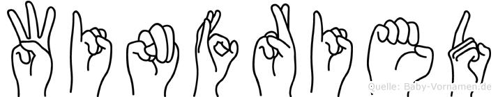 Winfried in Fingersprache für Gehörlose