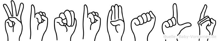 Winibald im Fingeralphabet der Deutschen Gebärdensprache