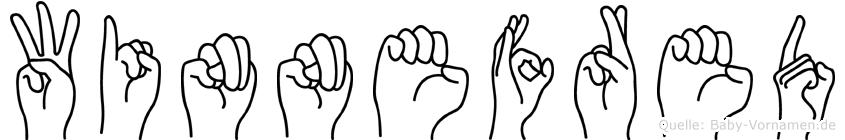 Winnefred im Fingeralphabet der Deutschen Gebärdensprache