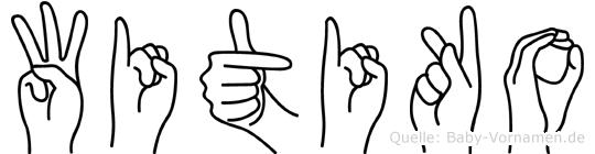 Witiko im Fingeralphabet der Deutschen Gebärdensprache