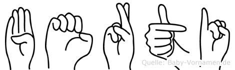 Berti in Fingersprache für Gehörlose