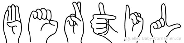Bertil in Fingersprache für Gehörlose
