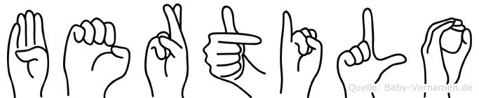 Bertilo in Fingersprache für Gehörlose