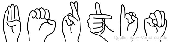 Bertin im Fingeralphabet der Deutschen Gebärdensprache