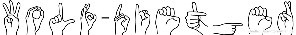 Wolf-Dietger im Fingeralphabet der Deutschen Gebärdensprache