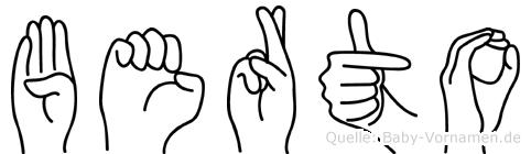Berto in Fingersprache für Gehörlose