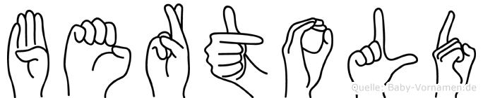 Bertold in Fingersprache für Gehörlose
