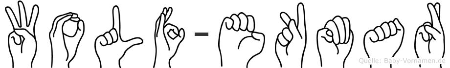 Wolf-Ekmar im Fingeralphabet der Deutschen Gebärdensprache