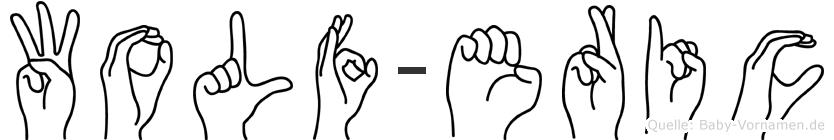 Wolf-Eric im Fingeralphabet der Deutschen Gebärdensprache