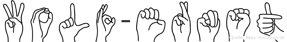Wolf-Ernst im Fingeralphabet der Deutschen Gebärdensprache