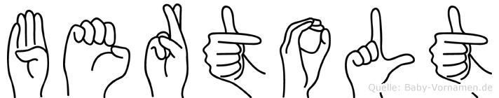 Bertolt in Fingersprache für Gehörlose