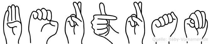 Bertram im Fingeralphabet der Deutschen Gebärdensprache
