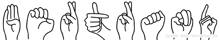 Bertrand in Fingersprache für Gehörlose