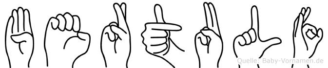Bertulf in Fingersprache für Gehörlose