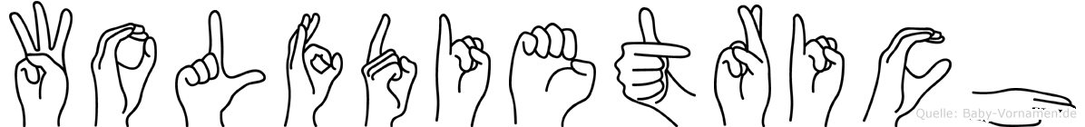 Wolfdietrich im Fingeralphabet der Deutschen Gebärdensprache