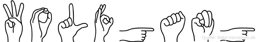 Wolfgang in Fingersprache für Gehörlose