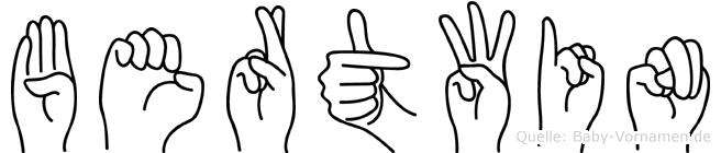 Bertwin in Fingersprache für Gehörlose
