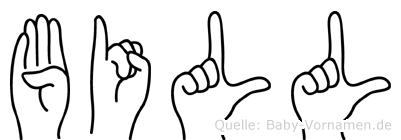 Bill in Fingersprache für Gehörlose