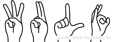 Wulf im Fingeralphabet der Deutschen Gebärdensprache