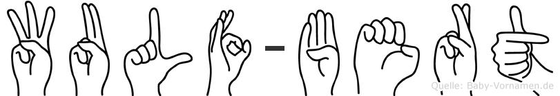 Wulf-Bert im Fingeralphabet der Deutschen Gebärdensprache