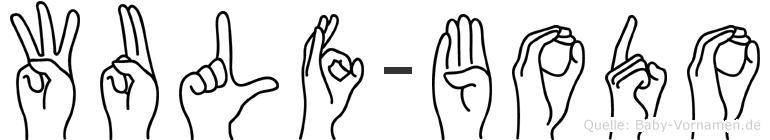 Wulf-Bodo im Fingeralphabet der Deutschen Gebärdensprache