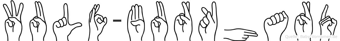 Wulf-Burkhard im Fingeralphabet der Deutschen Gebärdensprache