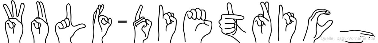 Wulf-Dietrich im Fingeralphabet der Deutschen Gebärdensprache