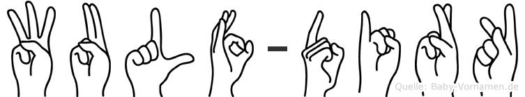 Wulf-Dirk im Fingeralphabet der Deutschen Gebärdensprache
