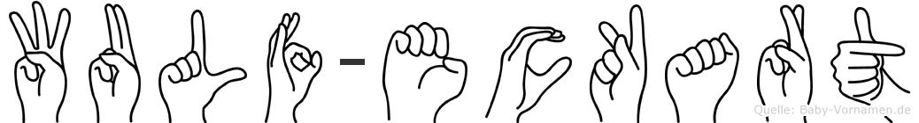 Wulf-Eckart im Fingeralphabet der Deutschen Gebärdensprache