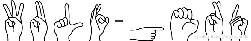 Wulf-Gerd im Fingeralphabet der Deutschen Gebärdensprache