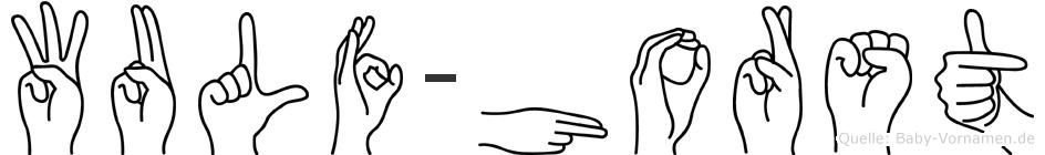 Wulf-Horst im Fingeralphabet der Deutschen Gebärdensprache