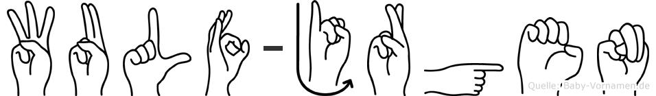 Wulf-Jürgen im Fingeralphabet der Deutschen Gebärdensprache