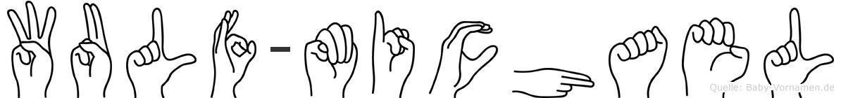 Wulf-Michael im Fingeralphabet der Deutschen Gebärdensprache