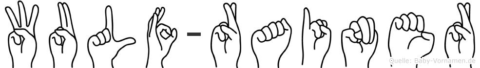 Wulf-Rainer im Fingeralphabet der Deutschen Gebärdensprache