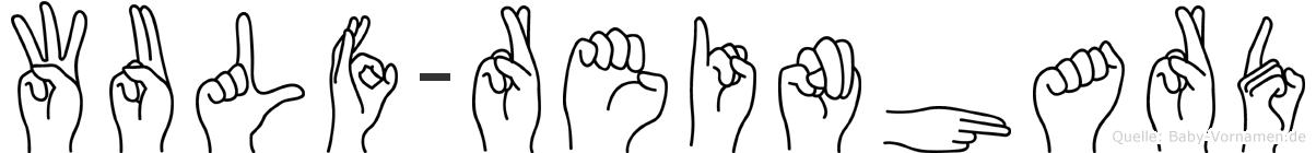 Wulf-Reinhard im Fingeralphabet der Deutschen Gebärdensprache