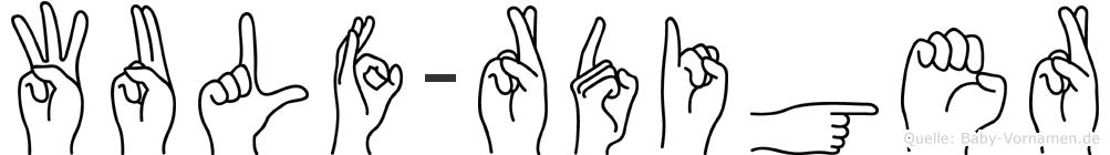 Wulf-Rüdiger im Fingeralphabet der Deutschen Gebärdensprache
