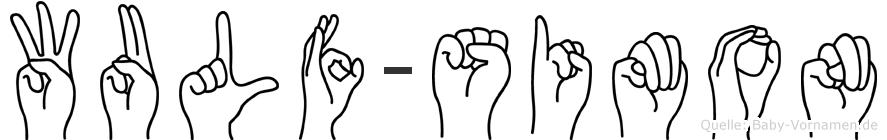Wulf-Simon im Fingeralphabet der Deutschen Gebärdensprache